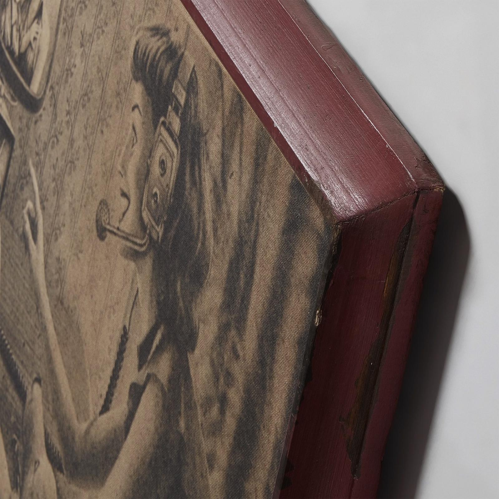 lilou tableau 76x100 bois rouge